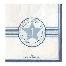Greengate Papieren  servetten 20 stuks No 1 Indigo