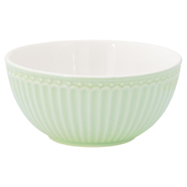 Greengate Cereal bowl Alice pale green.