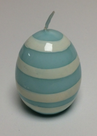 Greengate ei kaars pale blue strepen small