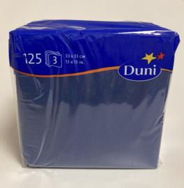 Duni servetten blauw 33x33cm