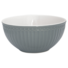 Greengate Cereal bowl Alice stone grey
