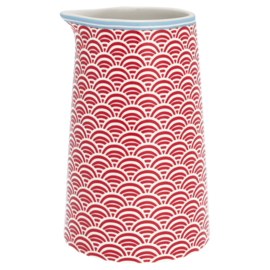 Greengate Jug Nancy red 0,4 Ltr.
