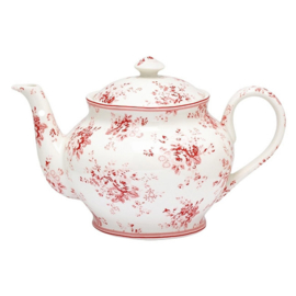 Greengate Theepot / teapot  round Abelone Raspberry