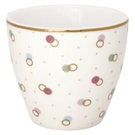 Greengate Latte cup/beker Kylie white