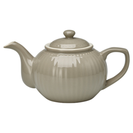Greengate Theepot Alice warm grey.