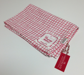 Greengate Theedoek /tea towel  Frederikke raspberry