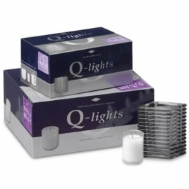 Q-Lights® Square ribbed glass smoke