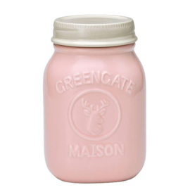Greengate Jar Maison pale pink large.