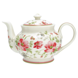 Theepot /Teapot round Meadow white