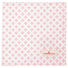 Greengate Napkin/servet Sasha pale pink40x40cm