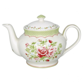 Greengate Theepot round Mary white