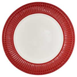 Greengate Ontbijtbord/plate Alice red.