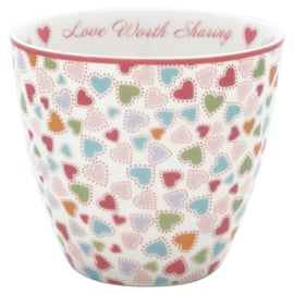 Greengate Latte cup/beker Love pastel mix