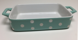 Greengate ovenschaal dot mint small