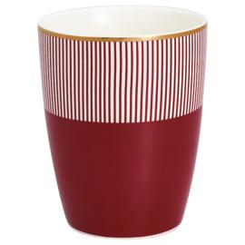 Greengate Latte cup/beker Corine bordeaux.
