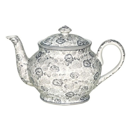 Greengate Theepot / teapot  round Louise warm grey