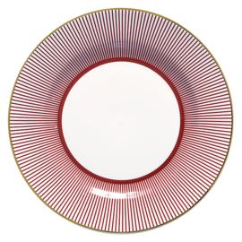 Greengate Plate/bord Corine bordeaux.
