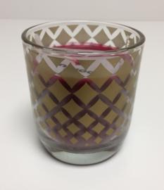 Gevuld glas bordeaux