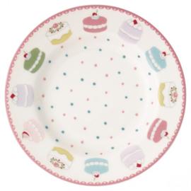Greengate Gebaksbordje/small plate Madelyn white.