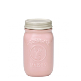 Greengate Jar Maison pale pink small.