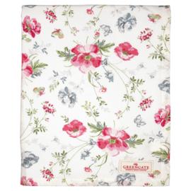 Greengate Tafelkleed/ tablecloth Meadow white 145x250cm
