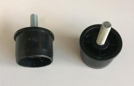 Kunststof buisverbinder met draadeind.