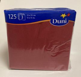 Duni servetten bordeaux 33x33cm