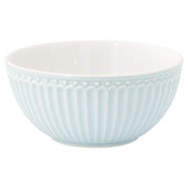 Greengate Cereal bowl Alice pale blue.