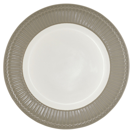 Ontbijtbord/plate Alice warm grey.