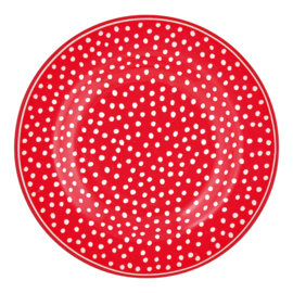 Greengate Gebaksbordje/small plate Dot red.