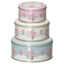 Greengate Round box set of 3 tins Betty White