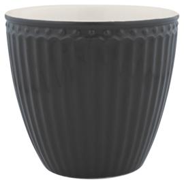 Greengate Latte cup/beker Alice dark grey.