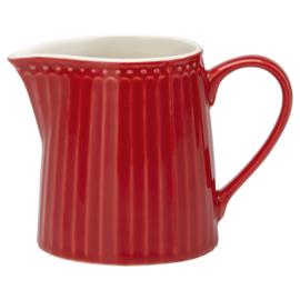 Greengate creamer Alice red