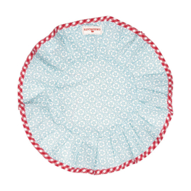 Greengate bread basket round napkin Sonja pale blue