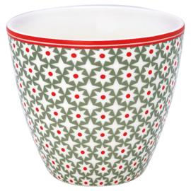 Greengate Latte cup/beker Lara green.