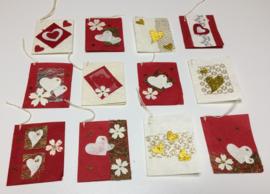 Cadeaukaartjes/bloemenkaartjes.