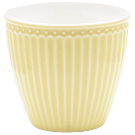 Greengate Latte cup/beker Alice pale yellow.