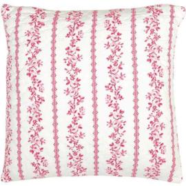 Greengate Quilt kussensloop /cushion Audrey raspberry 50x50 cm