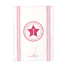 Greengate Theedoek / tea towel No1 raspberry