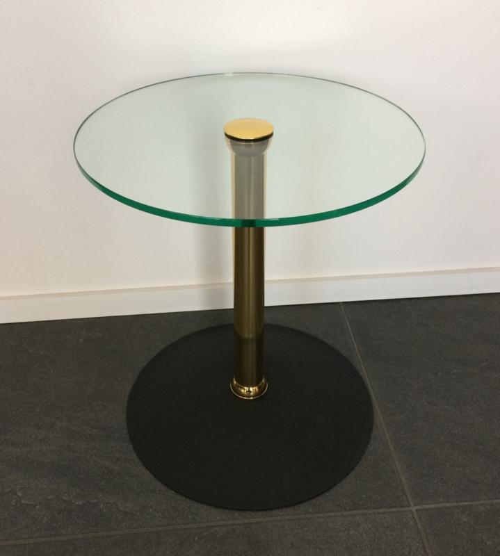 Glazen Sidetable Messing.Bijzettafel Messing Glas Kleinmeubelen Apko Interieur