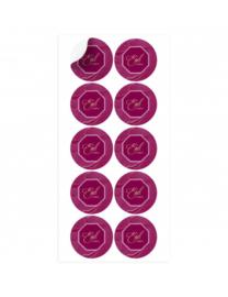 Eid mubarak stickers Bordeaux/Paars