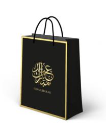 Giftbag Eid Mubarak Zwart Goud