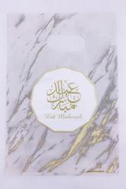 Snoepzakjes eid mubarak goud marmer