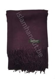 Pashmina sjaal donker paars