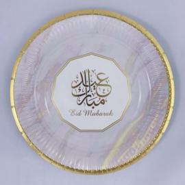 Eid mubarak borden goudmarmer