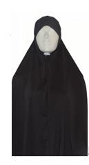 Ghimaar hoofddoek donkergrijs