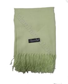 Pashmina sjaal  licht limoengroen