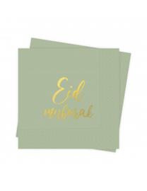Serviettes Eid Mubarak Tropical
