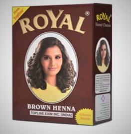 Henna voor haar kleur brown