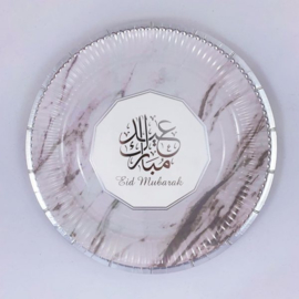 Eid mubarak bord zilvermarmer